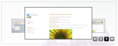 Bildergalerie auf der Homepage